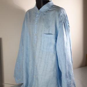 Men's Caribbean Long Sleeve Shirts Linen Size 2XB